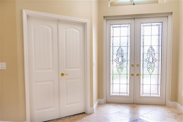 Foyer and front door