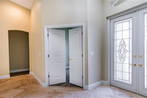 french door and foyer